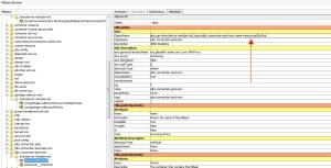 JDBC Connection Pool - Mbean Metadata